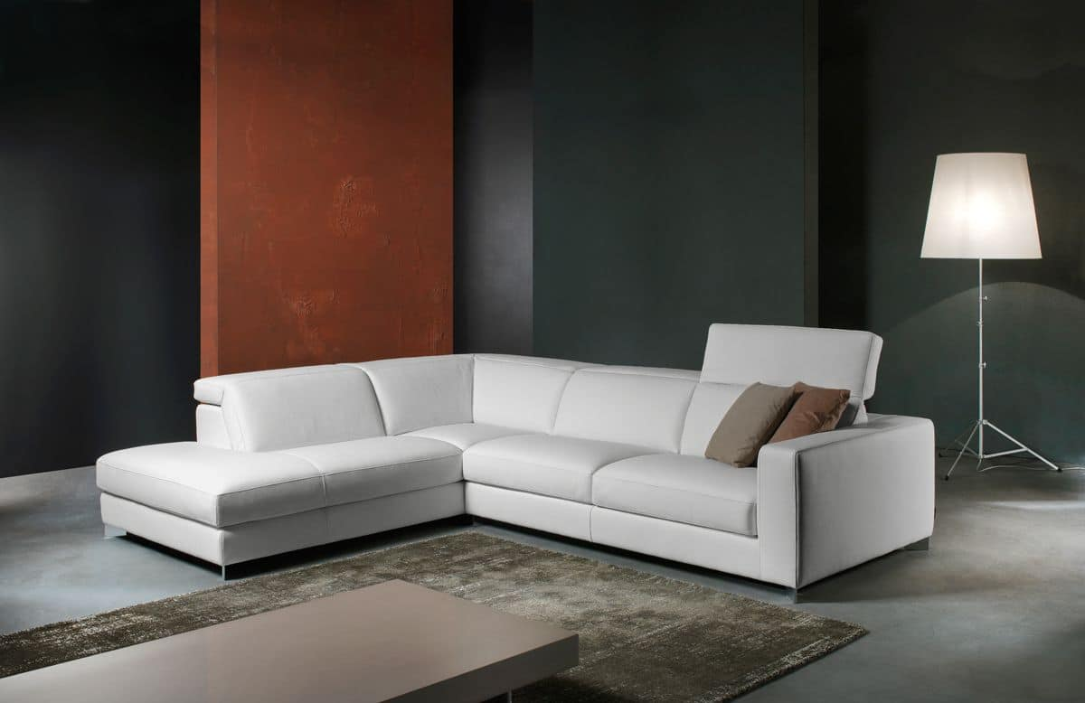 Leather sofa with removable cushions for living room for Cushions for leather sofas