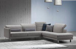 Prado, Sofa with manual mechanism for adjusting the backrest