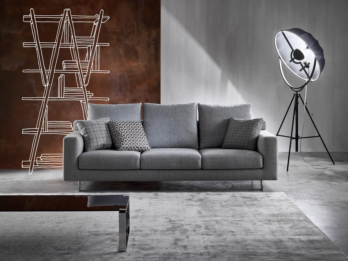 Modern Sofa With Removable Fabric In Polyurethane IDFdesign