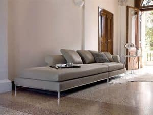 Seasons, Modular and combinable sofas, upholstered with feather and down