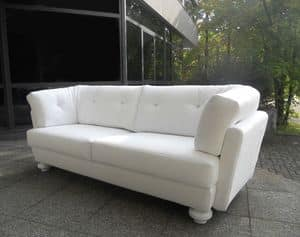 Senior, Modern sofa with wooden frame, with bed
