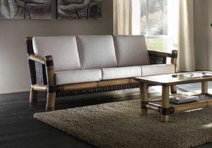 Sofa Surya, 3-seater sofa in ethnic style