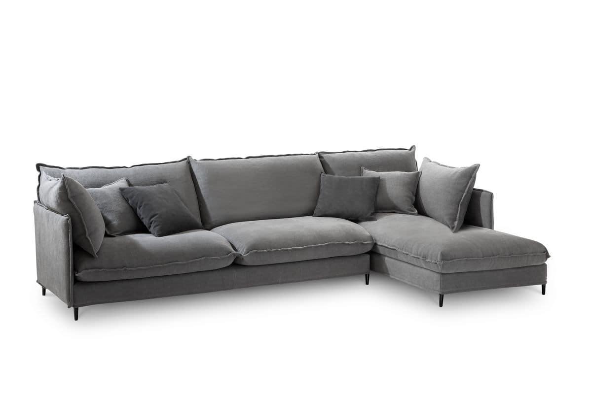 modern corner sofa wooden structure for living rooms idfdesign. Black Bedroom Furniture Sets. Home Design Ideas