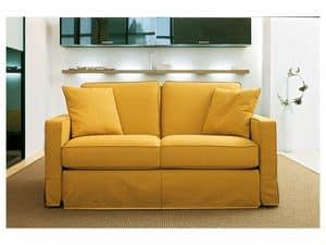 Sleeper Sofa In Flat Drawn Iron In Modern Style Idfdesign
