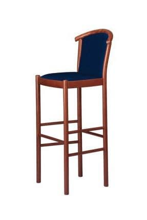 C09 SG, Barstool in wood for bar and kitchen area