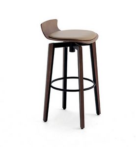 CG 878038 SG, Modern stool with round metal footrest