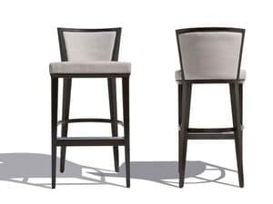 Picture of Churchill stool 7160, padded wooden barstools