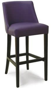 Dallas SG, Padded stool with backrest, for stylish bars