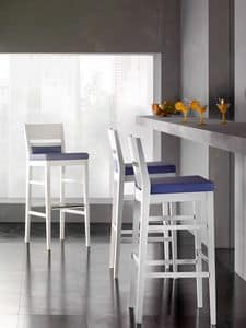 Picture of EASY stool 8600B, barstools with wooden frame