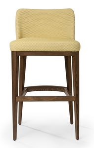 Katel stool A, Padded barstool with low backrest