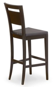 Lory stool, Stool in wood with padded seat