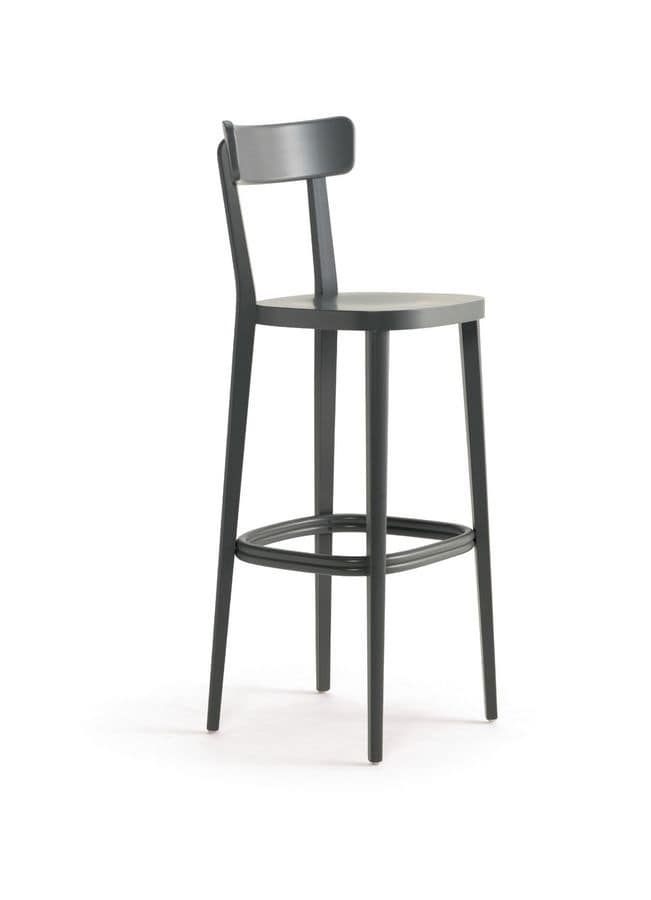 Linear Stool In Wood For Bars And Home Idfdesign