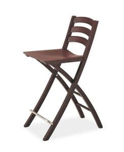 Picture of Quick SG, wooden barstool with classic lines