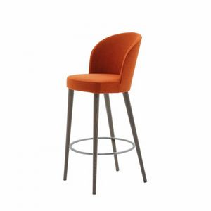 Rose 03081 - 03091, Padded stool with belted seat, with metal footrest