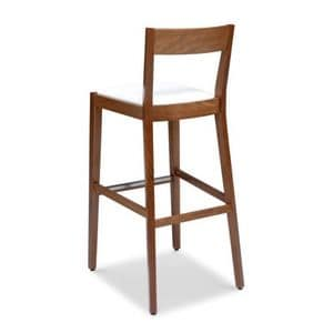 Picture of SILLA 472 AI, modern wooden barstool