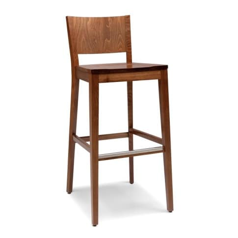 Modern wooden bar stools