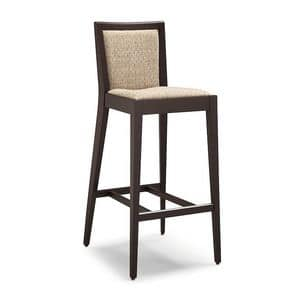Picture of TOUCH stool 8639B, modern barstool with padded seat