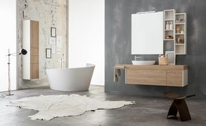 Kami comp.08, Modular bathroom cabinet with storage columns
