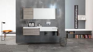 Kami comp.16, Modular bathroom composition, modern style