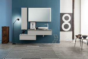 Kami comp.18, Bathroom composition with drawers