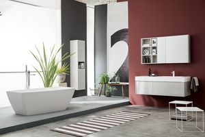 Kami comp.21, Modular bathroom cabinet in modern style