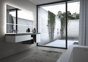 Sense comp.06, Modular bathroom furniture, with large mirror