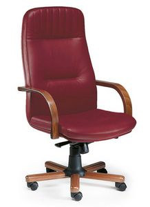 Arcadia 3010, Presidential armchair with armrests and wooden base