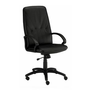 Queen 500, Leather chair with high backrest for boss office