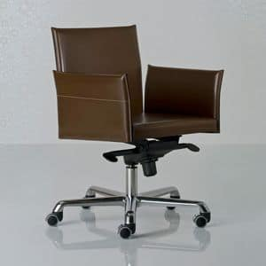 Picture of Alfa armchair swivel low 25.0011, metal office chairs