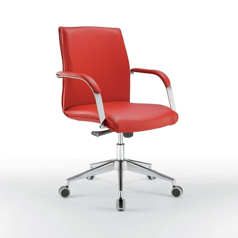 fice chair with low back metal base