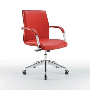 Araiss low, Office chair with low back, metal base