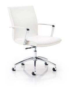 Calypso 7301, Padded office chair, on chrome castors