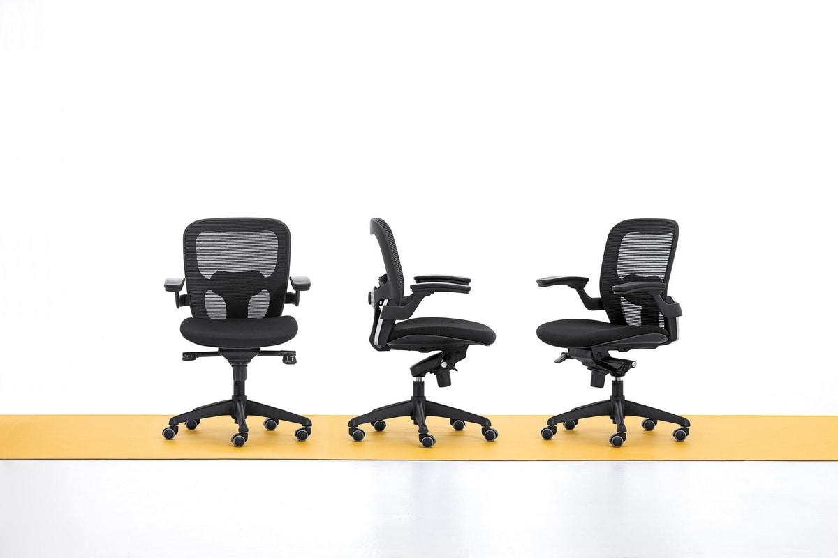 Iko 01, Modern office chair, swivel casters, gas lift