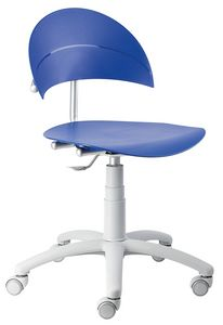 Luna SW, Home-office chair, adjustable in height, in polypropylene