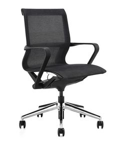 Urania medium, Chair for meeting room, with seat and backrest in mesh