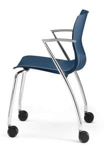 WEBBY 334 R, Chair with metal base, fire retardant nylon shell