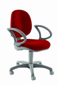 WING, Ergonomic chair with armrests, for office