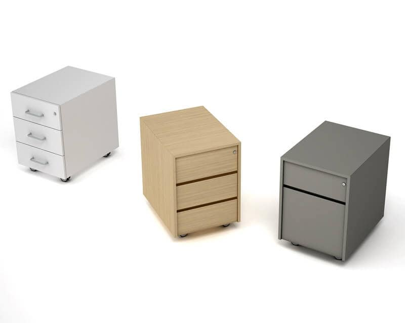 Chest Of Drawers On Wheels For Writing Desk For Office