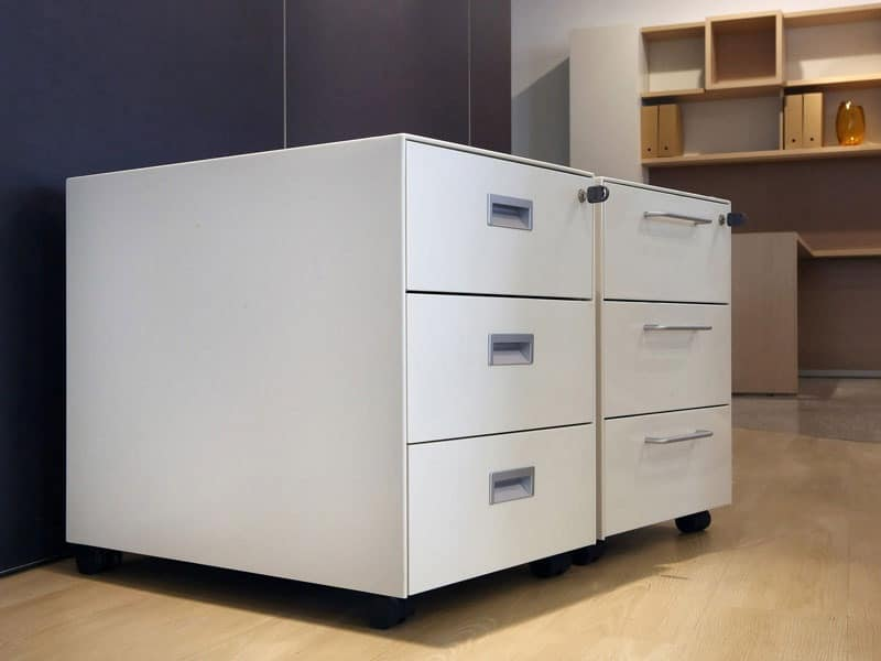 Office Drawer Units, Operational Drawer In Metal Painted In Various Colors
