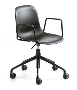 Mani plastic AR HO, Chair with wheels for office, adjustable height