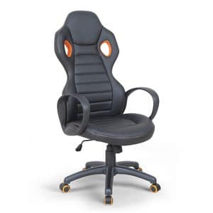 Presidential armchair racing sport gaming chair � SU092RAC, Directional chair in imitation leather, with armrests