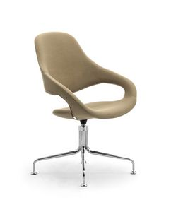 Samba Plus Octopus, Upholstered chair with swivel base with 4 spokes