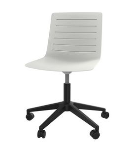 Slim 04, Polypropylene office chair with plastic 5-spokes