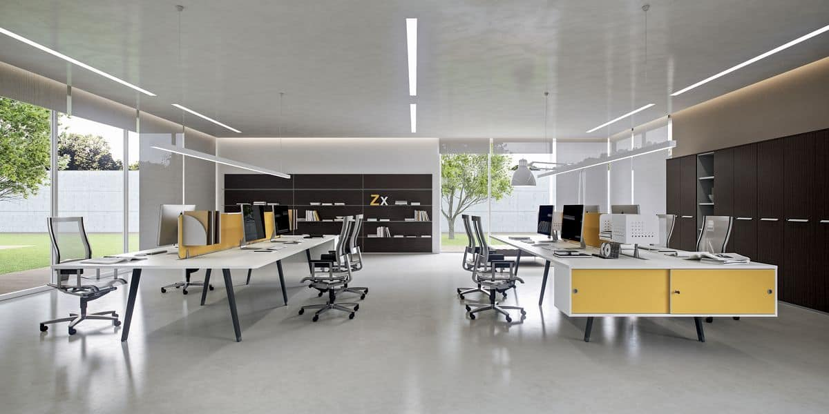 Dv804 e place 9 workstations suited for modern offices for Della valentina office