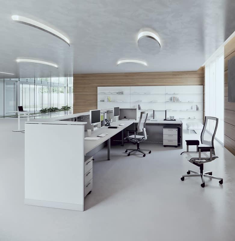 Workstation Practice - DV703 QUBO 4 by Della Valentina Office Spa