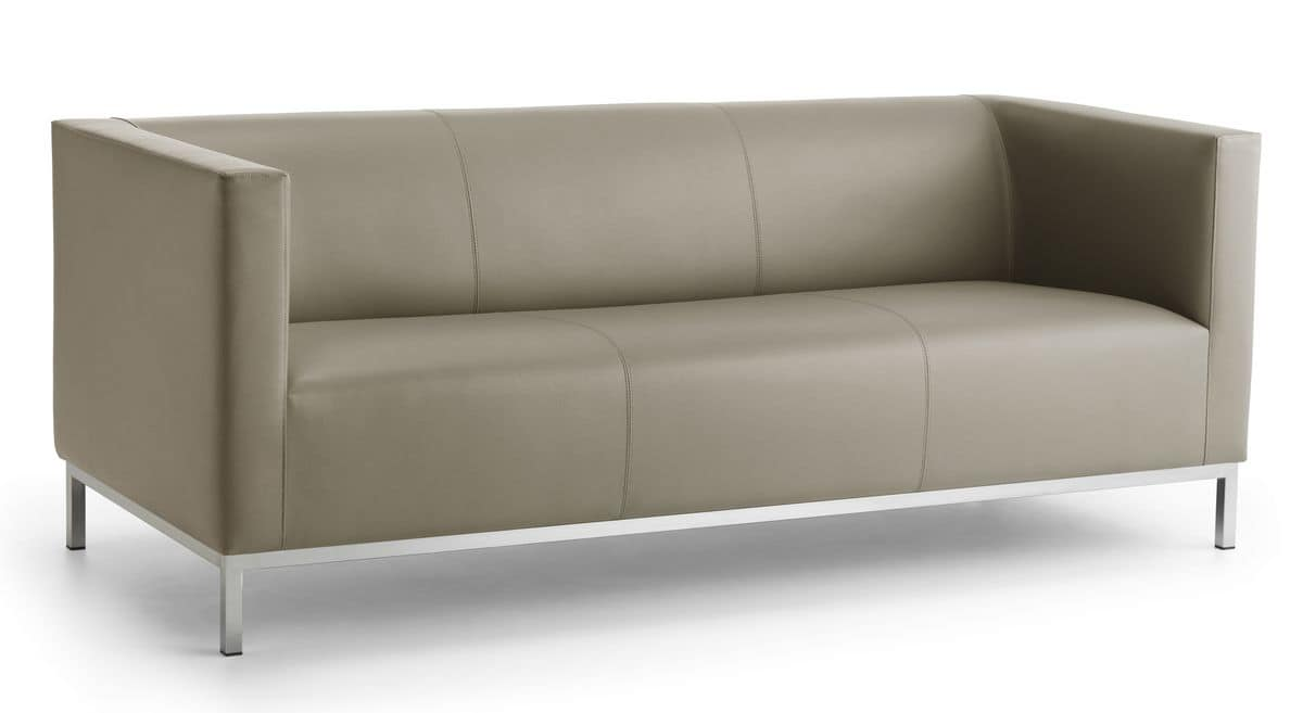 Linear sofa 3 seat chromed steel base idfdesign argo 03 linear sofa 3 seat chromed steel base parisarafo Image collections