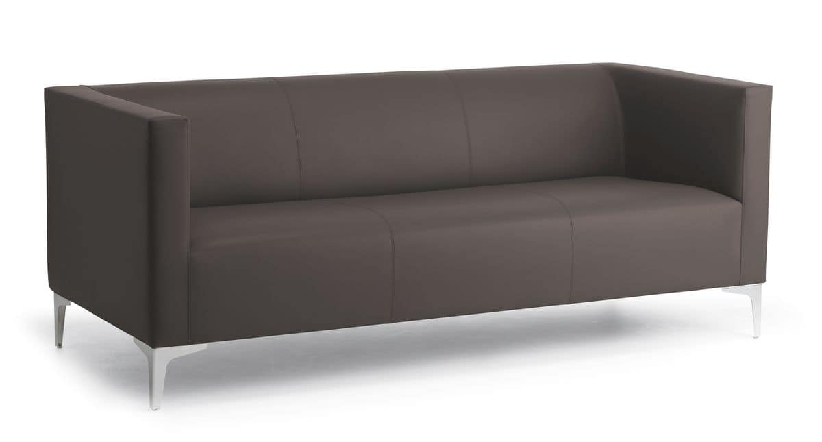 Argo Light 03 3 Seater Sofa For Office And Waiting Room Steel Feet