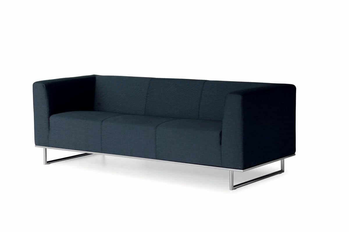 Leather Sofa For Office And Waiting Room Can Be Equipped With Battery Charger For Smartphones
