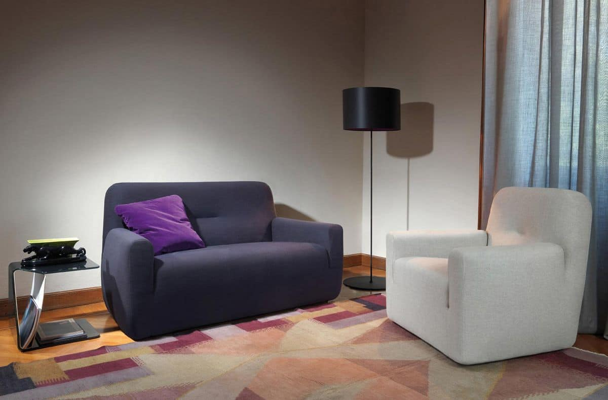 Compact sofa suited for modern offices | IDFdesign - Clubina Contract sofa, 2 seaters sofa for waiting areas, leather or fabric  covering