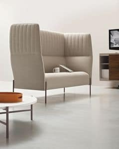 Dolly, Sofa with high backrest, for acoustic privacy